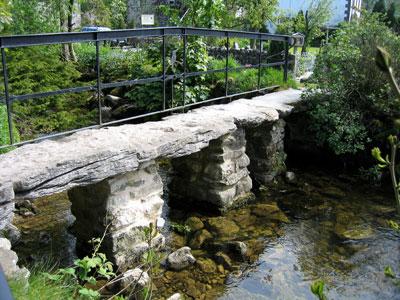 Footbridge over Malham Beck